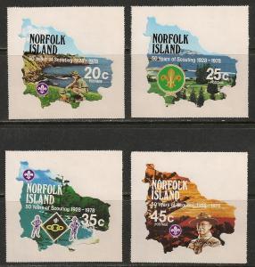 Norfolk Island #231-34 VF MNH - 1978 Scounting
