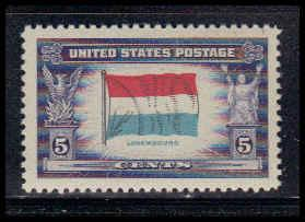 912 5c Flag of Luxembourg Fine MNH W3827