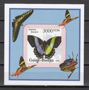 Guinea Bissau, Mi cat. 3390. Butterfly value as a s/sheet.