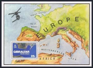 Gibraltar 364,MNH.Michel 372. Air Mail Rate Gibraltar-Europe,1978.Space view.
