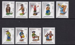 Monaco  #1448-1456   MNH  1984    Christmas