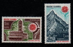 Andorra (Fr) Sc 262-63 1978 Europa stamp set mint NH