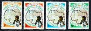 Biafra 1969 Second Anniversary of Independence Set #22-25 Refugee Child Map MNH