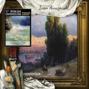 C A R - 2019 - Ivan Aivazovsky - Perf Souv Sheet - MNH