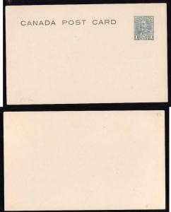 Canada #12736 -P57a unused 1c green type 1-KGV CBN Front Face issue-