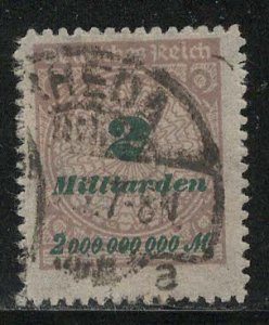 Germany Reich Scott # 306, used, exp h/s