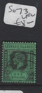 LEEWARD ISLANDS (P2305B)  KGV  1/-   SG 73 VFU