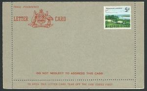 NORFOLK IS 1960s 5d formular lettercard fine unused, scarce................41227