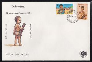 Botswana # 237-238, Year of the Child, First Day Cover