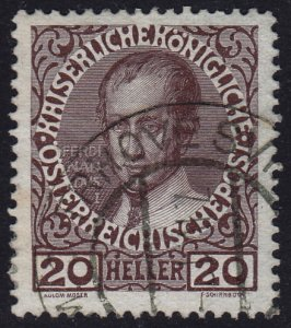 Austria - 1908 - Scott #117 - used - TRHOVE SVINY pmk Czech Republic