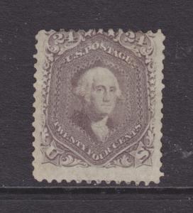 US Sc 78 MLH. 1863 24c lilac Washington, tiny thin