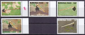 Burkina Faso. 2005. 1878-82. Implements hoes. MNH.