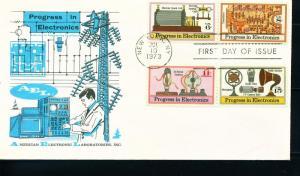 US Sc# 1500 - 1502 C86 4-Set on FDC Electronics AEL Labs