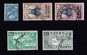 ETHIOPIA STAMP OLD USED STAMPS COLLECTION LOT