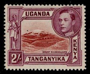 KENYA UGANDA TANGANYIKA GVI SG146a, 2s lake-brown/brown purple LH MINT. Cat £80.