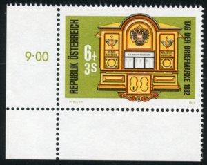 Austria Scott B346 MVFNHOG 1870 Mainz-Weber Mailbox - SCV $1.40
