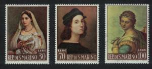 San Marino Paintings by Raphael 3v SG#700-702 SC#550-552