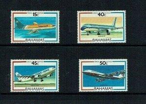 Bahamas: 1987 Air, Aircraft,  Mint set