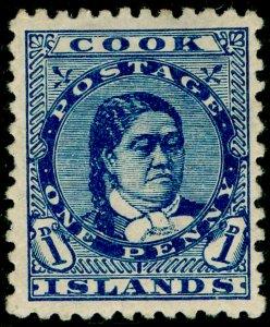 COOK ISLANDS SG6, 1d blue, M MINT. Cat £13.