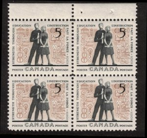 Canada - Education 1962 SC396 Mint Block  NH