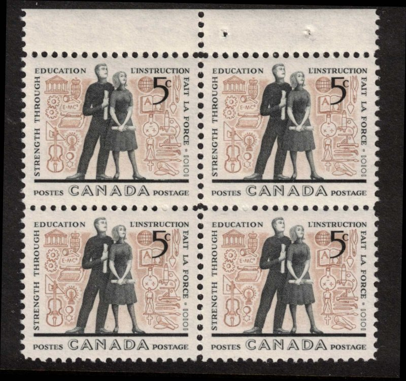 Canada - Education 1962 SC396 Mint Block  NH