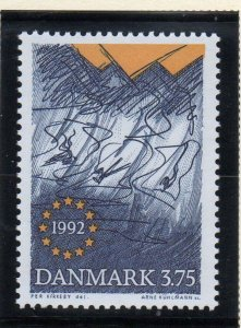 Denmark  Scott 967 1992 Single European Market stamp mint NH