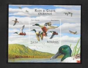 BIRDS - ROMANIA #4974-DUCKS  MNH