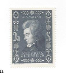 Austria, 609, Wolfgang Mozart Birth - 200th Single, **MNH** (LL2018)