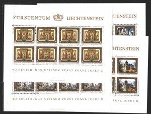 Liechtenstein. 1978. Small sheet 706-9. Castles, architecture. MNH.