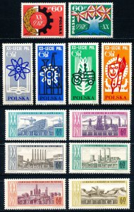 Poland #1244-1255  Set of 12 MNH