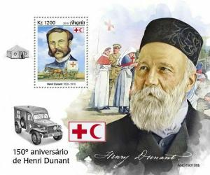 Z08 IMPERF ANG190108b ANGOLA 2019 Henry Dunant MNH ** Postfrisch
