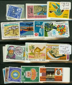 EDW1949SELL : QATAR Nice collection of 13 DIFF. VF MNH Cplt sets. Scott Cat $431