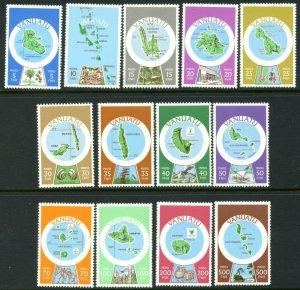 VANUATU Sc#280a-292a 1980 Island Maps Defins in French Complete Set OG Mint NH