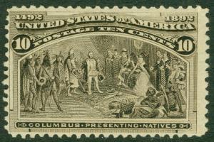 EDW1949SELL : USA 1893 Scott #237 Mint NH. Very light natural gum bend. Cat $285