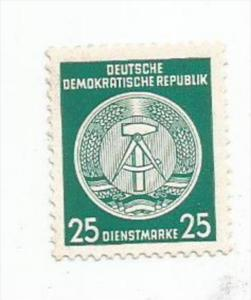 GERMANY, DDR, 1954, MNH 25pf, OFFICIAL, Scott O23 Lines Redraw