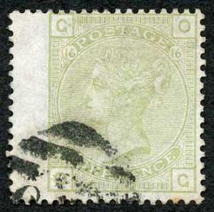 SG153 4d Sage-green Wmk Large Garter Plate 16 Used with Clear Profile Cat 300