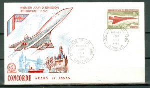 AFARS & ISSAS CONCORDE #C56  HISTORIC DAYS of ISSUE COVER..VERY NICE