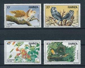 [102905] Rwanda 1985 Birds vögel oiseaux owls  MNH