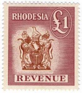 (I.B) Rhodesia Revenue: Duty Stamp £1