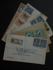KENYA U & T : Group of 6 covers w/interesting markings incl. Scarce Reg. cover
