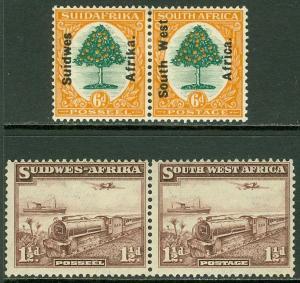EDW1949SELL : SOUTH WEST AFRICA 1926-37 Scott #87, 110 Very Fine Mint OG Cat $52