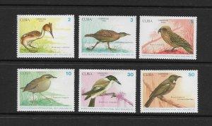 BIRDS - CUBA  #3241-6   MNH