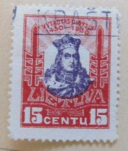 A11P5F63 Litauen Lituanie Lithuania 1930 15c used