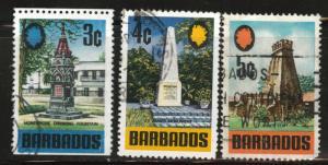 Barbados Scott 330-332 Used short set
