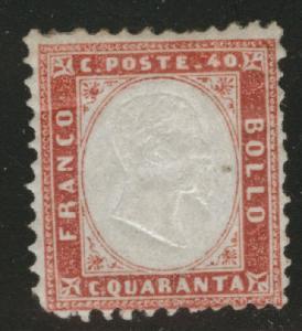 ITALY Scott 20 MH* CV $325 stamp 1862