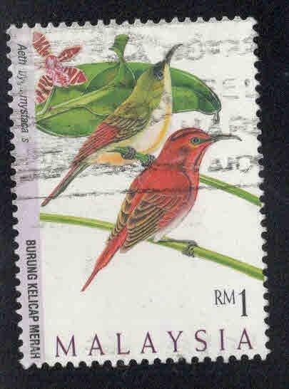 Malaysia Scott 608 Used Bird stamp