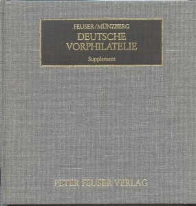 German Stampless Mail Supplement by Feuser/Muenzberg, 1990, hardcover 390 p.
