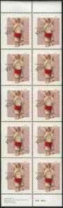 Canada - USC #1815a Mint 1999 46c Christmas Angel Pane of 10 - VF-NH