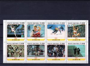 Eritrea 1991 Los Angeles ovpt.Barcelona'92 Shlt Perf.MNH VF