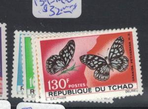 Chad Butterfly SC 139-42 MNH (7dps)
